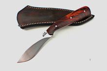 Jim Siska Custom Cocobolo Bird And Trout Knife (Satin)