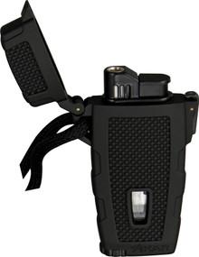 Xikar Black Rubber Windproof Stratosphere Lighter
