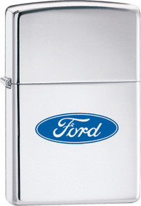 Zippo Ford Oval logo High Polish Chrome Lighter