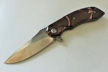 Olamic Cutlery Wayfarer W312 Black/Red Kirinite Flipper Knife