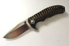 Tim Britton Knives Custom Mini Tango 2 Knife Bronze Titanium - Satin