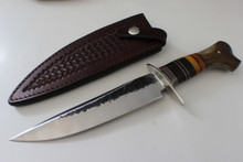 James Behring Jr Crotch Stag Double Skull Stamp Fighter Knife