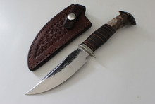 "James Behring Jr 4-1/2"" Crown Stag Hunter Knife"