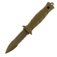 Gerber De Facto Spear Point Fixed Blade Knife Desert Tan