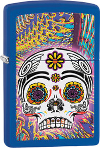 Zippo Lighter Day Of The Dead Blue