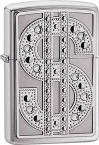 Zippo Bling Emblem High polish chrome