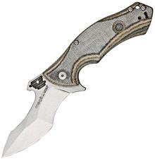 Viper Knives Magà Mixed Canvas Micarta Linerlock Knife (Stonewash)