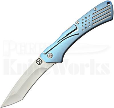 Klecker Knives Slice Blue Tanto Klecker Lock Knife (Satin)