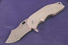 Red Horse Knife Works War Pig Ti Frame Lock Knife (Damascus)