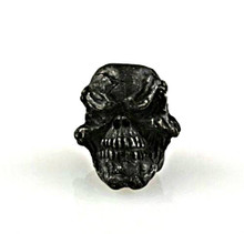 Schmuckatelli Grins Skull Bead (Black Oxidized)