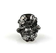 Schmuckatelli Grins Skull Bead (Hematite Matte)