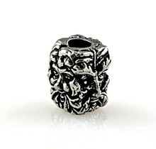 Schmuckatelli Green Man Skull Bead (Pewter)