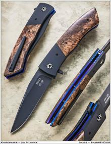 Jim Minnick Custom Titan Model MT-16F Linerlock Flipper Knife