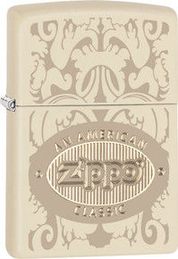 Zippo American Classic Cream Matte Finish Lighter