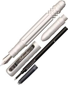 Schrade Tactical Fountain & Rollerball Pen (Silver)