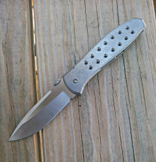 Chuck Gedraitis Custom Model #1 Ti Framelock Knife (Satin)
