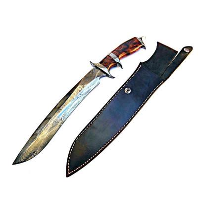 Jim Siska Custom Forged Subhilt Fighter Knife Damascus