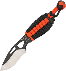 Buck PakLite Series Skinner Fixed Blade Knife (Black/Orange)