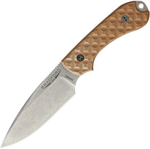 Bradford Knives Guardian3 Coyote Brown Fixed Blade Knife (Stonewash)