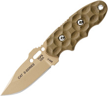 Tops C.A.T. (Covert Anti-Terrorism) Fixed Blade Knife (Coyote Tan)