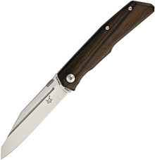Fox Knives Terzoula Ziricote Wood Linerlock Knife (Satin)