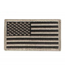 Rothco American Flag Patch (Black & Khaki)