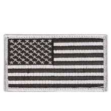 Rothco American Flag Patch (Black & Silver)