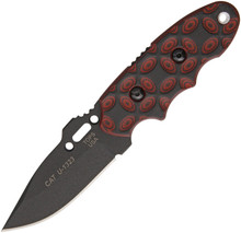Tops C.A.T. (Covert Anti-Terrorism) Red & Black Fixed Blade Knife (Black)