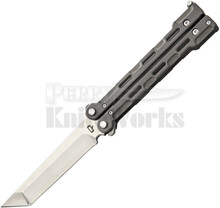 Quartermaster Knives QBS1 Marty McFly Butterfly Knife (Polished)