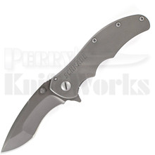 Schrade Drop Point Re-Curve Framelock Flipper Knife (Ti Coated)