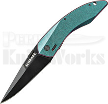 Schrade Landshark M.A.G.I.C Color Shift A/O Linerlock Knife (Black)