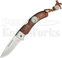 Karesuando Kniven Nallo Fällkniv Curly Birch Lockback Knife (Satin)