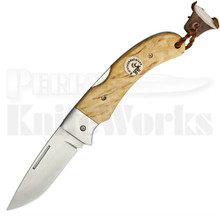 Karesuando Kniven Singi Fällkniv Natural Birch Lockback Knife (Satin)