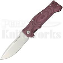 Viper Knives Ten Burgundy Micarta Framelock Flipper Knife (Satin)
