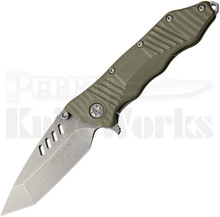 Guardian Tactical Helix Combat Folder OD Green Knife (Stonewash Tanto)