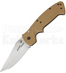 CRKT Crawford Kasper Desert Tan Zytel Linerlock Knife (Satin)