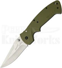 CRKT Crawford Kasper Green Zytel Linerlock Knife (Satin)