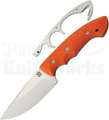 Klecker Abiqua Orange Fixed Blade Hunter Knife (Satin)