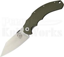 Bastinelli Creations Big Dragotac Green G10 Knife (Stonewash)