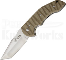 Bad Blood Knives Mosier Crossfire Tanto Linerlock Knife (Satin)