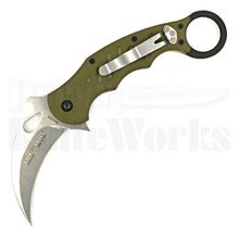 Fox Knives OD Green Linerlock Karambit Knife (Stonewash)