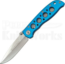 Smith & Wesson Extreme Ops Blue Linerlock Knife (Bead Blast)