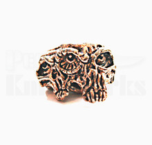 Schmuckatelli Gemini Twins Skull Bead (Ant. Copper)