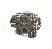 Schmuckatelli Gemini Twins Skull Bead (Matte Hematite)