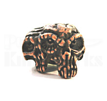 Schmuckatelli Gemini Twins Skull Bead (Roman Copper)