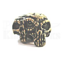 Schmuckatelli Gemini Twins Skull Bead (Roman Brass)