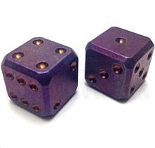 Flytanium Large Cuboid  2 Dice Set (Purple SW)