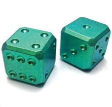 Flytanium Large Cuboid 2 Dice Set (Green SW)