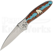Brian Yellowhorse Custom Kershaw Mammoth Leek Knife (Satin)