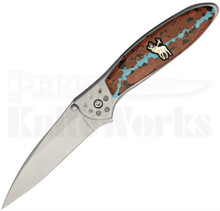 Brian Yellowhorse Custom Kershaw Elk Leek Knife